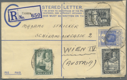 1920/1937, Lot Of 15 Used Registered Stationery Envelopes, H&G No. 1 (10) And No. 2 (5), Good Diversity Of...