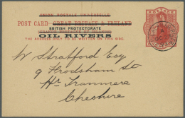 1893/1955 (ca.), Unusual Accumulation With 20 Covers And Postal Stationeries (+ Two Pieces) Incl. Oil Rivers,...