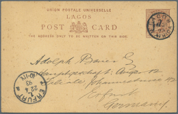 """1893/1980 (ca.), Lot With Ca. 140 Stationeries, Picture Cards And Covers, Many R-letters, One Canc. """"camerouns..."""
