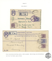 195-1940's - British Africa: Collection Of 40 Covers, Postcards And Postal Stationery Cards, Envelopes And...
