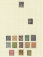 1891/1900, Petty Collection On Album Pages, From 1891 Red Overprint 5c. On 1c. Dubois (not Signed, Please Judge...