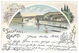 Galati, Litho, Inundatiile Din 1897, Used 1898