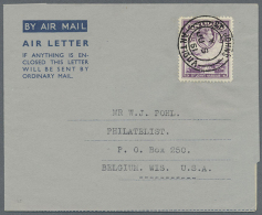 1949/1977 (ca.), AEROGRAMMES: Accumulation With About 90 Unused And Used/CTO Airletters And Aerogrammes With... - Antigua And Barbuda (1981-...)