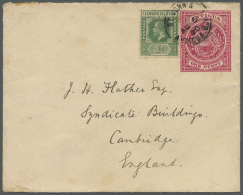 1828/1964 (ca.), Accumulation With 9 Covers And Postal Stationeries Incl. Interesting Usages, Rates And Frankings,... - Antigua And Barbuda (1981-...)