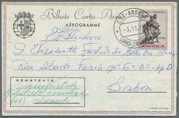 1951/1971 (ca.), AEROGRAMMES: Accumulation With About 100 Unused And Used/CTO Aerogrammes With Several Better... - Angola