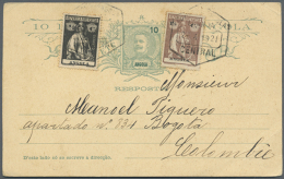 1906/1949, Lot Of Nine Commercial Covers/cards, Only Better Items (single Lots), Comprising Attractive Frankings,... - Angola