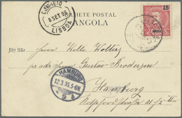 1890/1975, Assortment Of More Than 80 Entires, Comprising Stationeries, A Nice Selection Of Ppc, Commercial Mail... - Angola