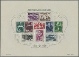 1870/1976, Mint And Used Collection On Album Pages From Early Issues, Better Issues Like 1948 Souvenir Sheet, 1948... - Angola