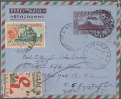 1952/1990 (ca.), AEROGRAMMES: Accumulation With About 800 Unused And Used/CTO Airletters And Aerogrammes Incl.... - Ethiopia