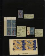 1958-2014 UAR: Almost Complete Collection Of Mint And Used Blocks Of Four (mostly) Or Singles Including Many Corner... - Unclassified