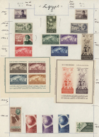 1948/61: Several Sets And Sheetlets, Ex. Archive Of A Foreign UPU Postal Administration, The Stamps Were Stuck To... - Egypt