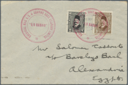 1922/1945, Lot Of Ten Covers/cards, Only Better Items (single Lots), Comprising Airmail Covers (incl. 1940 To Japan... - Egypt