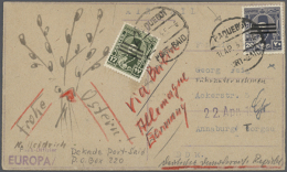 1920's-1950's: Group Of About 280 Covers And Postcards, With A Lot Of Special Frankings, Cancellations,... - Unclassified