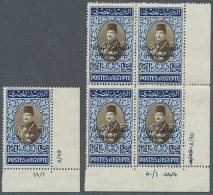 1920's-1960's CONTROL NUMBERS: Collection Of More Than 350 (corner) Marginal Blocks Of Four, Other Multiples And... - Egypt