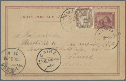 1902/1955 (ca.), Accumulation With 20 Covers, Used Postal Stationeries And Picture Postcards Incl. Different Types... - Egypt
