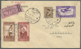 1900/1960 (ca.), Lot Of Apprx. 115 Covers/cards/stationeries, Some Glued To Black Surface, Showing A Nice Range Of... - Unclassified