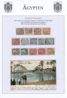 1866-1971, Kleine Studiensammlung Mit Marken, Ganzsachen Und Briefen Im Hefter, Dabei Nette Stempel, Ansichtskarten... - Egypt