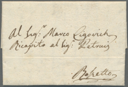 1803 - 1866, 66 Pre-philatelic Covers Starting With Cover In Fine Condition From 1803 Alexandria To Rosetta... - Unclassified