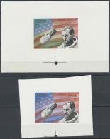 1970 (ca.), Raumfahrer 2 Proben In Zwei Verschiedenen Mustern, Postfrisch. 1970 (approx), Spacecraft 2 Samples In... - Manama