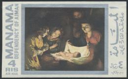1969, Gemälde, Zwei Werte Als Probedruck, Jeweils Auf Karton Geklebt. 1969 Painting, Two Values As Proof, Each... - Manama