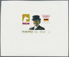 1968, Olympische Spiele, Zwei Entwürfe Auf Kleinem Block. 1968 Olympic Games, Two Designs On A Small Block.... - Manama
