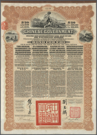 China: Set With 11 Very Nice And Attractive Company Shares China Including 50 Pounds Sterling Bond Of The...