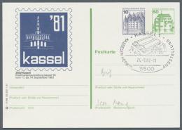 1982, Amtliche Bildpostkarte Mit Seltenem Beidruck Eines 10 Pf-Wertstempels Auf Privatbestellung Links Neben Dem...