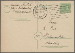 1950/1958, Partie Mit 11 Belegen, Dabei Bessere Ausgaben Bauten I Mit Ungebrauchter Gezähnter P 13 II,...