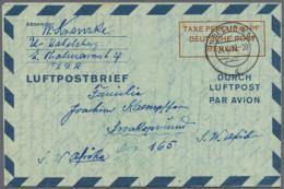 """1949/1954. Sammlung Mit 10 Versch. """"Luftpostfaltbriefen"""" Mit Den Folgenden Michel-Nrn: 1 II, 2a I, 2b I, 2b II, 2b..."""