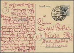 1949/1990, über 1000 Gebrauchte Und Ungebrauchte GS Postkarten In Insgesamt 12 Alben, Dabei Auch Bessere...