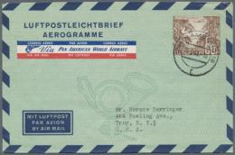 1948/1954. Sammlung Von 10 Verschiedenen LUFTPOSTFALTBRIEFEN. Dabei Sind Die Michel-Nrn 1 II, 2a I, 2b I, 2b II, 2b...