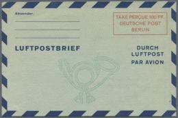 """1948/1954. Sammlung Mit 10 Versch. """"Luftpostfaltbriefen"""" Mit Den Folgenden Michel-Nrn: 1 II, 2a I, 2b I, 2b II, 2b..."""