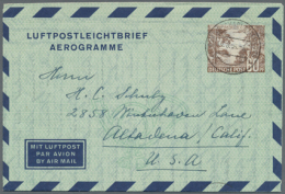 1948/1954. Posten Von Insgesamt 153 LUFTPOSTFALTBRIEFEN. Dabei Sind Die Michel-Nrn 1 II (27 Stück), 2a I (9),...