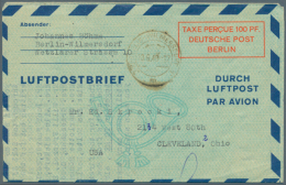 1948/1959. Sammlung Von 33 Postkarten Und Luftpostfaltbriefen, Gebraucht Oder Ungebraucht. Dabei Auch Bessere...