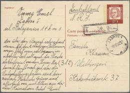 1948/1990, Saubere Sammlung Von Ca. 170 Gebrauchten Ganzsachenkarten (zusätzlich Einige Weitere Belege),...