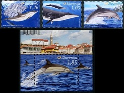 Slovenia 2016 Dolphins SS +3v MNH
