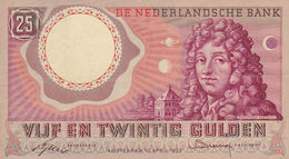 Netherlands 25 Gulden 1955 VF P-87 - [2] 1815-… : Kingdom Of The Netherlands