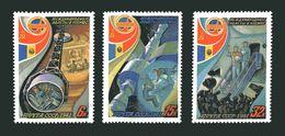 U.R.S.S. : Intercosmos Con Romania 3 Val. MNH** Del 15.05.1981
