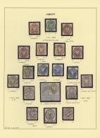 1859/67, Schöne Sammlung Meist Mehrfach Gestempelt Oder Briefstücke, Dabei MiNr 1, 5x 3, 4, 2x 5, 6 2x 7,...