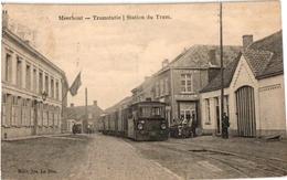 1 PC Meerhout  Tramstatie Station Du Tram Stoomtram Tram à Vapeur Café Jos Jentil Edit.Jos Le Bon - Meerhout