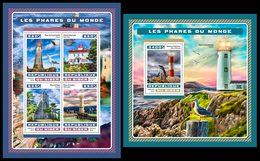 NIGER 2016 - Lighthouses, Seagulls M/S + S/S. Official Issue