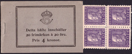 Sweden BK H016 R** 1918  Gustav V Left Profil C131 - Boekjes