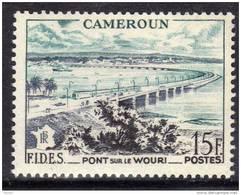 Cameroun N° 301  XX F.I.D.E.S.  15 F. Bleu-vert, Gris-violet Et Noir TB