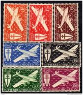 St Pierre Et Miquelon Poste Aérienne N° 4 / 10  XX Série De Londres Les 7 Valeurs Sans Charnière  TB
