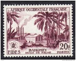 A. O. F. N° 60  XX Série FIDES :  Raffinerie D´huile De Palme à Avrankou Au Dahomey TB