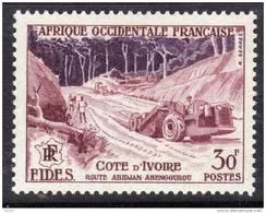 A. O. F. N° 61  XX Série FIDES : Route D´Abidjan à Abengourou En Cote D´Ivoire Sans Charnière, TB