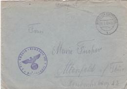 Feldpost WW2: 1. Ers. Schützen-Kompanie 471 P/m  Butzbach (Oberhess) 27.7.1942 - Letter Inside  (SKO2-50C) - Militaria