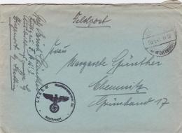 Feldpost WW2: F.A.S. 3 Ausstellungsgruppe Sj. In Ziegenort Bei Stettin P/m 10.9.1941 - Letter Inside  (SKO2-50C) - Militaria