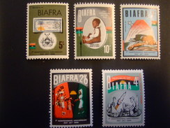 BIAFRA 1968 FIRST ANNIVERSARY OF INDEPENDENCE SG 17-21 COMPLETE SET    MNH **. (E34-100)