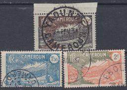 Cameroun N° 128 + 129 + 130 O Partie De Série : Les 3 Valeurs  Oblitérations Moyennes Sinon TB - Cameroun (1915-1959)
